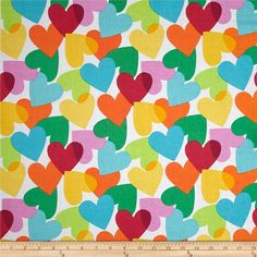 A personal favorite from my Etsy shop https://www.etsy.com/listing/272827326/michael-miller-big-hearts-fabric