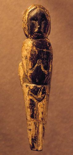 Stylized female figurine carved from mammoth ivory, Siberia, 20,000 BC