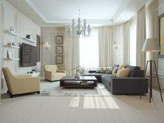 Дизайн и визуализация гостинной