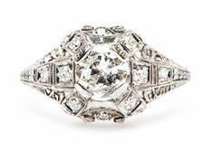 Vintage Unique Engagement Ring | Edwardian Antique Diamond Ring