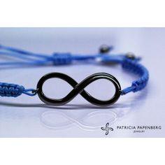 #Bracelet Infinity - Sky Blue #jewelry #jewels  #bracciale infinito #gioielli http://www.patriciapapenberg.com/default/kleine-preziosen/infinito/bracelet-infinity-skyblue.html