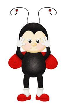 """Photo from album """"Happy_Lady Bug"""" on Yandex. Halloween Imagem, San Antonio, Feuille Eucalyptus, Ladybug Crafts, Ladybug Art, Baby Ladybug, Image Clipart, Cartoon Clip, Class Decoration"""