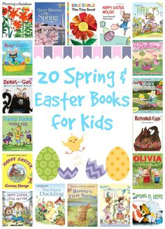 20 Spring and Easter Books for Kids - it's time to snuggle up with your kids and read aloud together! Easter Crafts, Crafts For Kids, Easter Ideas, Easter Books, Spring Books, Easter Activities, Literacy Activities, Easter Pictures, Easter Celebration