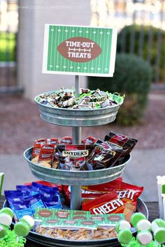 Great football party treat ideas! See more party ideas at CatchMyParty.com. #football #superbowl #partyideas