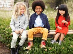 Cute kid clothes, but I have a problem with the kids hair on the left.. In my opinion, dreads are gross as is, why let a child have them?