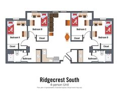 Ridgecrest South - Housing and Residential Communities Bedroom Windows, Living Room Windows, Dorm Room Layouts, Lakeside Dining, Dorm Hacks, Window Sizes, Mini Blinds, Room Tour, Room Dimensions