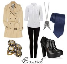 I love it! haha A chic attire inspired by Castiel from #Supernatural #fashion