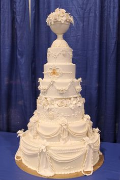 Extravagant Wedding Cakes | An over the top, extravagant white wedding cake by Barb Sullivan of ...