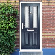 Siena Composite Door with Stippolyte Obscure Glass   upvc Windows ...