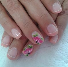 Finger Nails, French Tip Nails, Short Nail Designs, Mani Pedi, Short Nails, Just In Case, Fingers, Pretty, Beauty