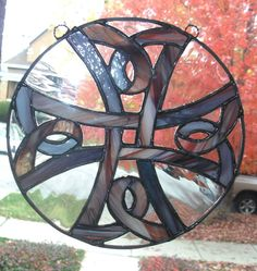Stained Glass SuncatcherCeltic Knot Cross in by smashingglass, $50.00