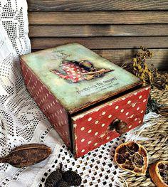 Купить Короб для кухни - комбинированный, короб, короб для чая, короб для кухни, коробочка, короб для специй