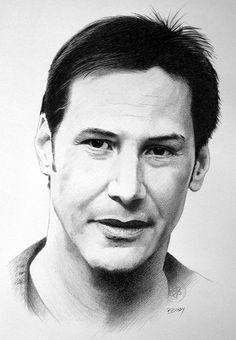 Keanu Reeves | Pencil drawing | Paul Brady | Flickr