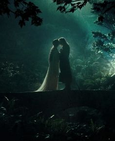 Arwen and Aragorn. Arwen is played by Liv Tyler and Aragorn is played by Viggo Mortenson.