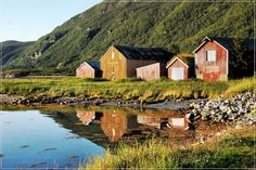in Ibestad on the Arctic coast NW of Jokkmokk ... evening light ...