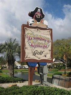Treasure Island Golf ~ Played on this one. Myrtle Beach Spring Break, Myrtle Beach Sc, Who Is A Veteran, Golf Instructors, Golf Academy, Career Fields, Golf Magazine, Miniature Golf, Putt Putt