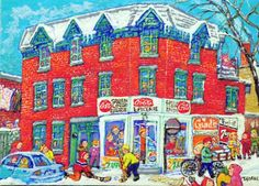 Miyuki TANOBE - L'Épicerie de la rue Logan de Montréal