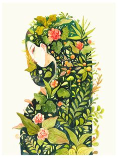 Little Gods of the forest by Killien Huynh #illustration #green #nature