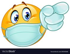 Pointing forward emoticon with medical mask and vector image on VectorStock Thumbs Up Smiley, Love Smiley, Emoji Love, Cute Emoji, Funny Emoji Faces, Funny Emoticons, Smileys, Emoticon Emoji, Smiley Emoji
