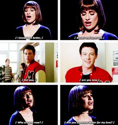 """Rachel remembering Finn during """"Who Are You Now"""""""