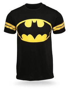 ThinkGeek :: Batman Hockey Stripe Tee