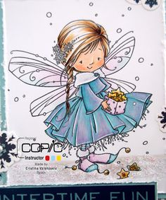 Copic Marker Spain: Tutorial - Special Effects Whimsy Stamps, Digi Stamps, Disney Drawings, Cute Drawings, I Believe In Angels, Fairy Pictures, Dibujos Cute, Christmas Drawing, Fairy Art