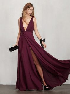 Obviously, this is super expensive. But I would love a dress like this (fit, low neck/back, high slit and color).