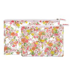 Set of 2 Clifton Rose Clear Washbags | CathKidston (for carry on travel - stocking stuffer?)