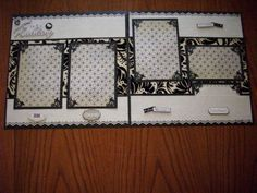 Premade Bridal Wedding Album Scrapbook Pages. $150.00, via Etsy.