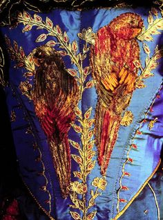 Embroidered bodice detail of Irma Prunesquallor's gown in Gormenghast.  That is beautiful.