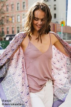 8e958b642c50 Slide View  1  UO Dark Rising Tank Top Spring Fashion Outfits