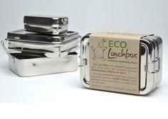 Stainless steel and cotton ECOlunchbox Kit is 100% plastic-free, waste free, lead-free, BPA-free, PVC-free and vinyl-free. http://www.ecolunchboxes.com/
