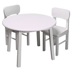 Gift Mark Round White Table and Chair Set Review | Tables &amp ...