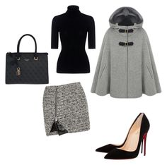 """Fifty shades of grey vol VI"" by umut-gul on Polyvore featuring Bouchra Jarrar, Theory, Christian Louboutin and GUESS"