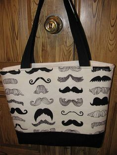 Another mustache bag by sewleighmyown, $30.00