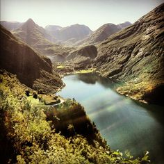 One of the most picturesque places to visit while in Norway - steep fjords and mountains. Take a cruise to view it all.