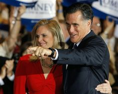 3/20 Chip Somodevilla / Getty Images  Mitt Romney and his wife Ann celebrate their victory in the Illinois GOP primary at the Renaissance Schaumburg Convention Center Hotel on Tuesday.