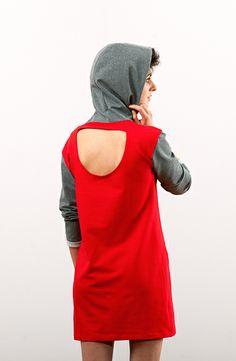 #lakola#hoodie#dress#red#sexy#