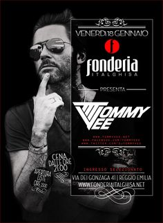 FONDERIA ITALGHISA presenta TOMMY VEE VENERDI' 18 GENNAIO
