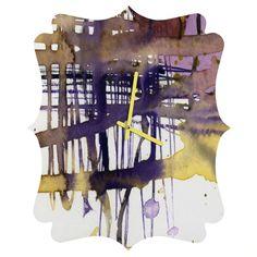 #Abstract @denydesigns Designs #Homedecor #homeaccessories @ginettefineart Fine Art Ginette Fine Art Molten Maze Quatrefoil Clock | DENY Designs Home Accessories