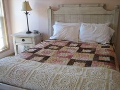 IMG_3547 | In The Pink quilt with Tranquil Retreat afghan | Katrina Parks | Flickr