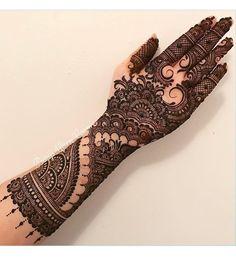 Inside hand henna