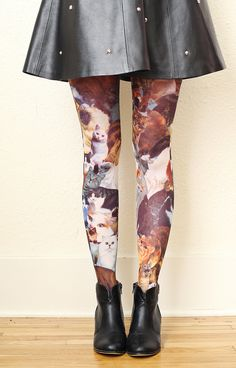 Cat tights, because I don't have enough cat clothes.