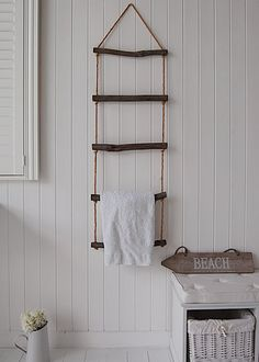 unique towel ladder, excellent storage for towels