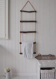 unique towel ladder, excellent storage for towels