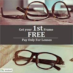 There are #eyeglasses for every occasion.  Get Your First Frame Free, Just Pay Only For Lenses on #Lenskart.  Shop Now: http://bit.ly/1mX92LB