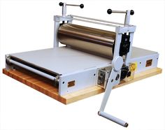 Takach Table Top Etching Press (press bed 24x48)  with a captain's wheel!