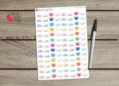 Open Book Planner Stickers, for Erin Condren Planner, Filofax, Life Planner Stickers, Kikki K, Happy Planner. de SandiaDesignShop en Etsy