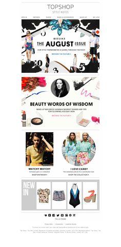 Topshop e-commerce fashion website