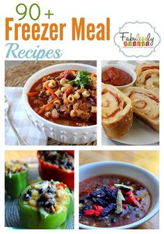 90+ Freezer Meal Recipes | Fabulessly Frugal  The thing I like here is they have chicken, pork, pasta and beef!  I can only eat some of the first two,due to allergies, but I'm not allergic to BEEF